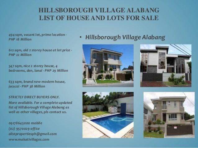 Hillsborough Village Alabang Hillsborough Village Alabang