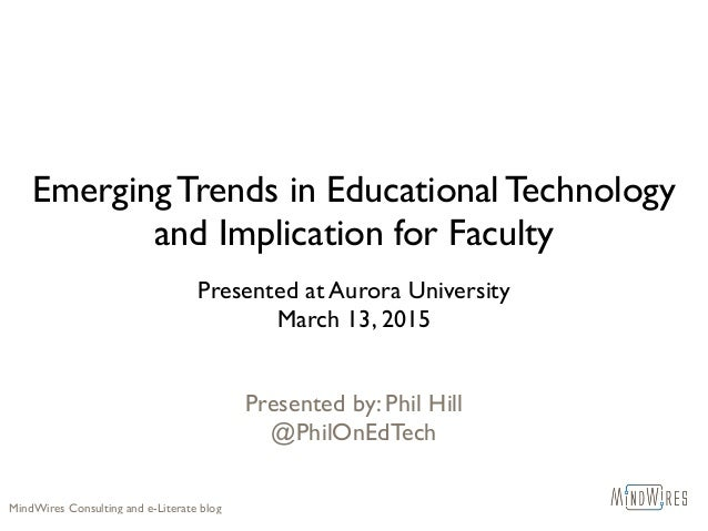 """entrepreneurship education as the emerging trend """"a surprising trend emerged from the data regarding entrepreneurship education and the use of technology only, 21% of the respondents indicated they use distance–learning technologies in their entrepreneurship education courses or concentrations""""."""