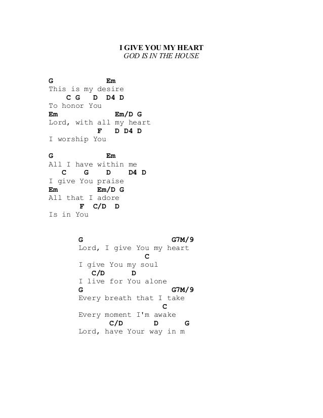 I Give You My Heart Guitar Chords Images - basic guitar chords ...