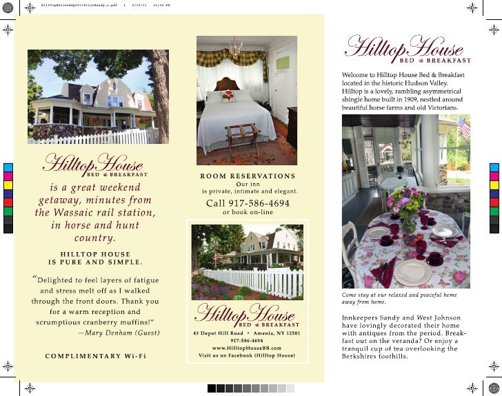 Hilltop House Brochure