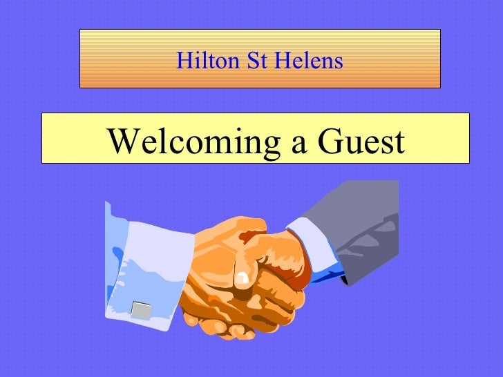 Hilton St Helens Welcoming a Guest