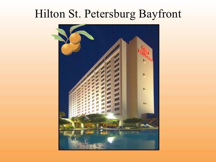 Hilton St Petersburg Bayfront catering presentation