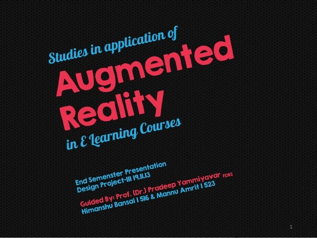 Project Clearn: Studies in application of augmented reality in E Learning Courses