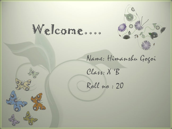 Welcome….