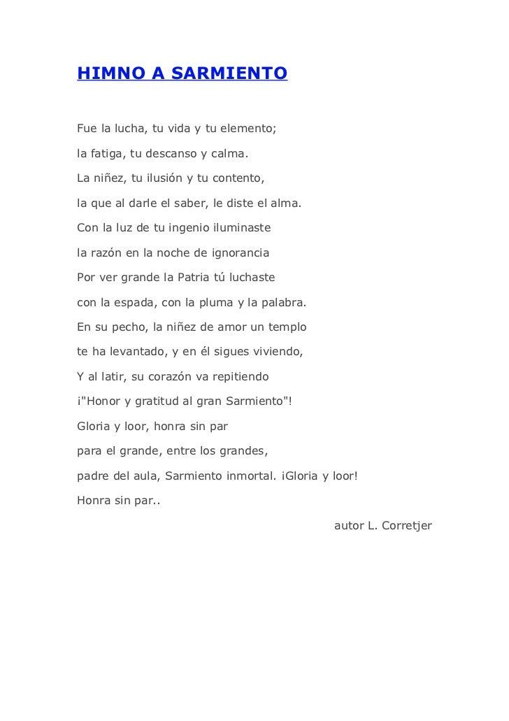 Himno a Sarmiento
