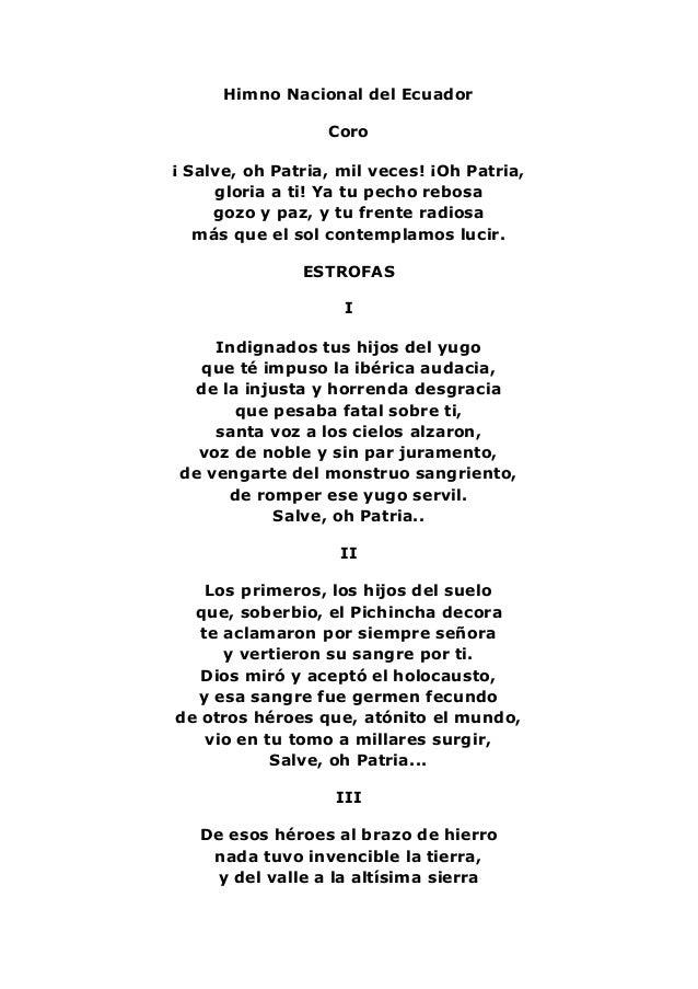 himno nacional ecuador historia: