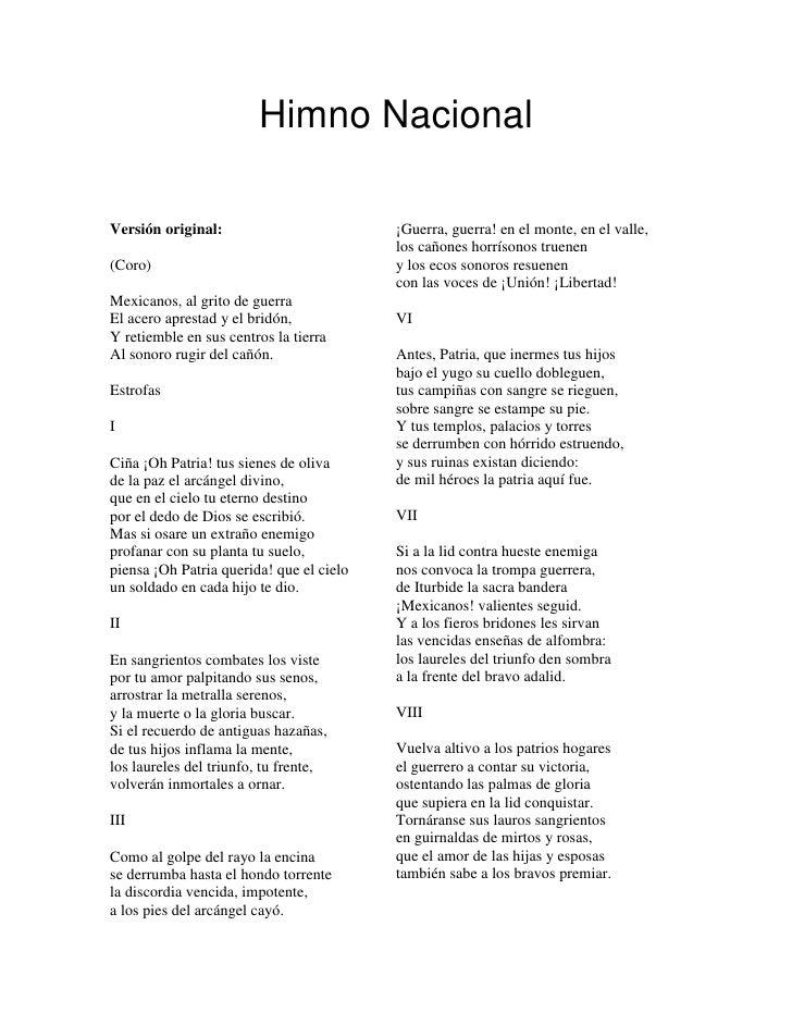 himno nasional mexicano: