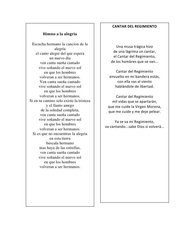 Himnos himno a la esfa 1 for Cancion el jardin de la alegria
