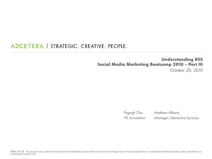 Understanding RSS                                                                                            Social Media ...