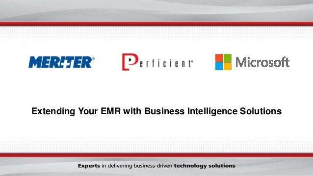 Extending Your EMR with Business Intelligence Solutions