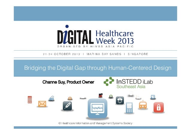 Bridging the CLICK TO ADDHuman-Centered Design Digital Gap through TITLE Channe Suy, Product to ner Click Ow add  subtitle