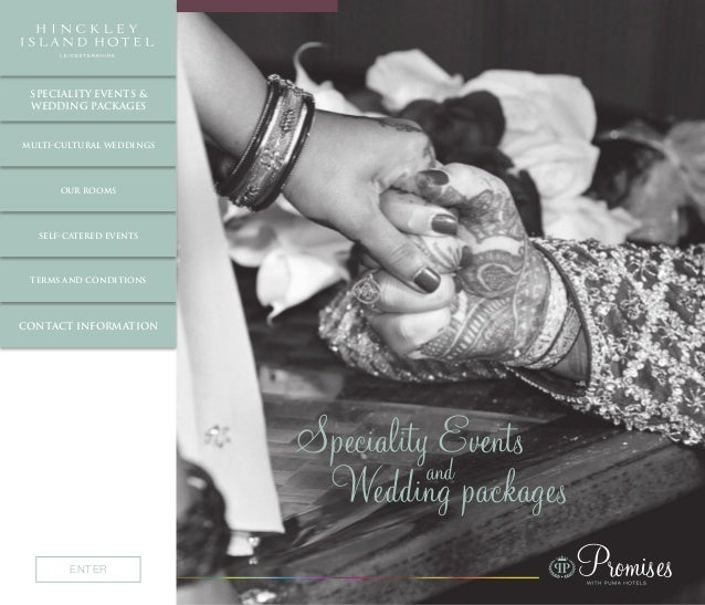 PromisesENTER multi-cultural weddings our rooms self-catered events terms and conditions contact information speciality ev...