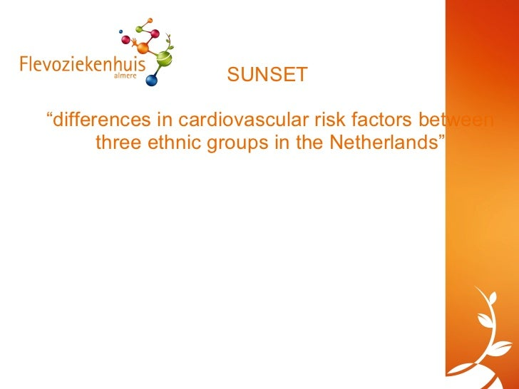"""SUNSET  """"differences in cardiovascular risk factors between three ethnic groups in the Netherlands"""""""
