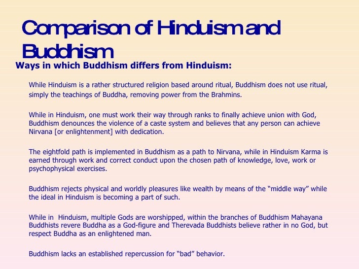 comparative essay hinduism and buddhism Ap world history possible essay question reviews comparisons of hinduism and confucianism and philosophical systems including some underlying.