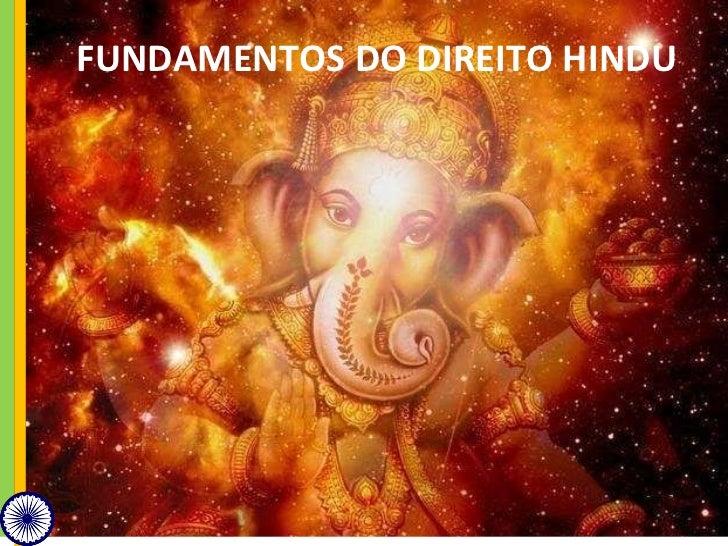 FUNDAMENTOS DO DIREITO HINDU