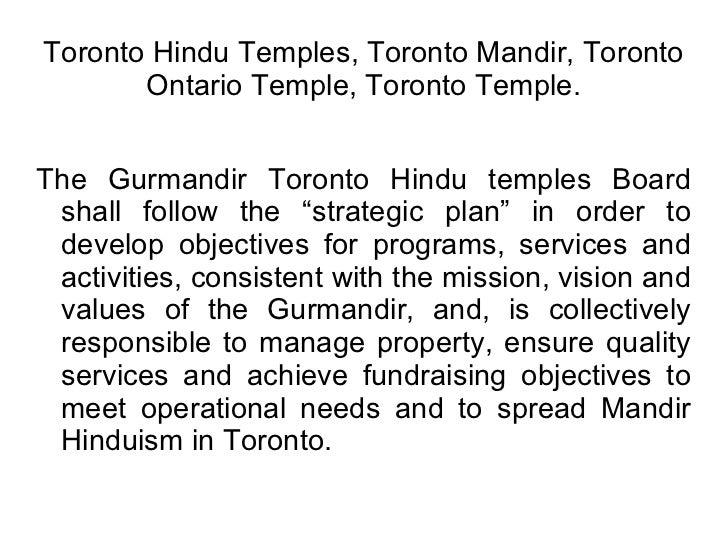 Toronto Hindu Temples Toronto