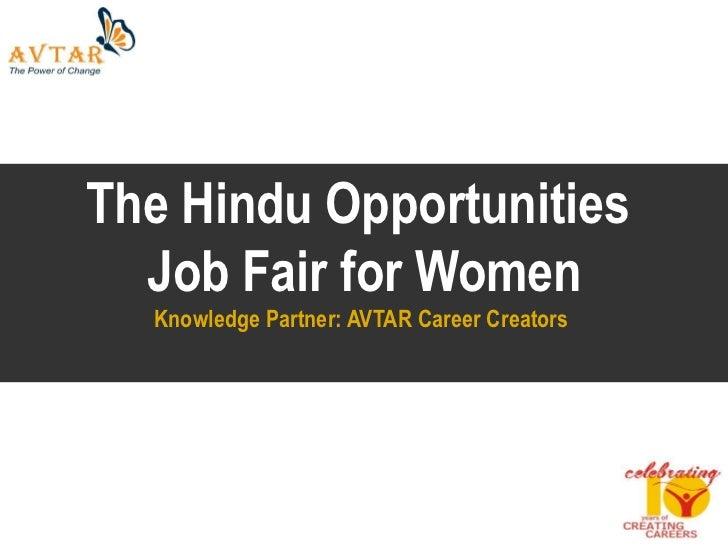 Hindu Opportunities Avtar Job Fair For Women   March 2011