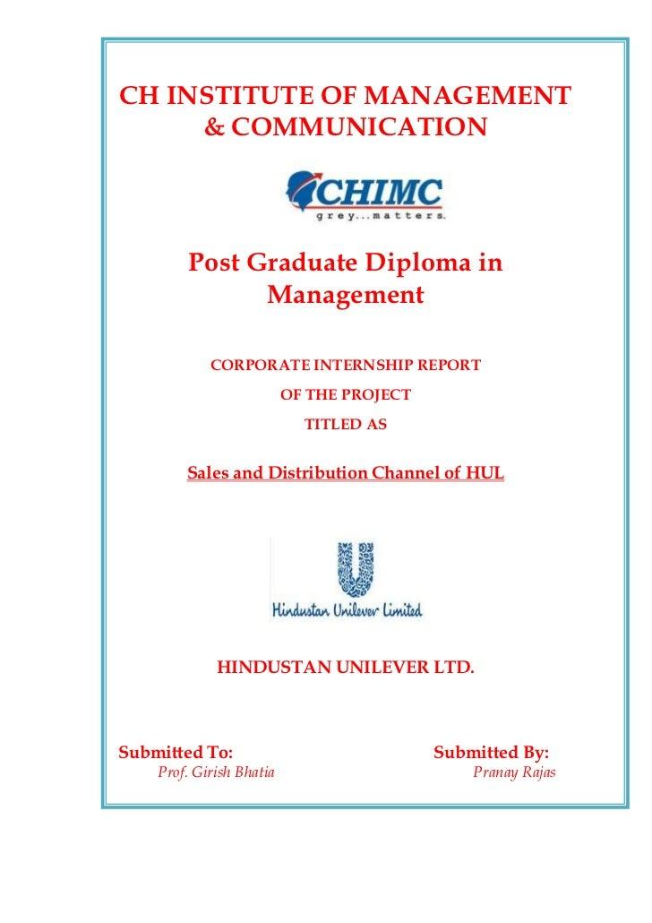 CH INSTITUTE OF MANAGEMENT     & COMMUNICATION        Post Graduate Diploma in              Management            CORPORAT...