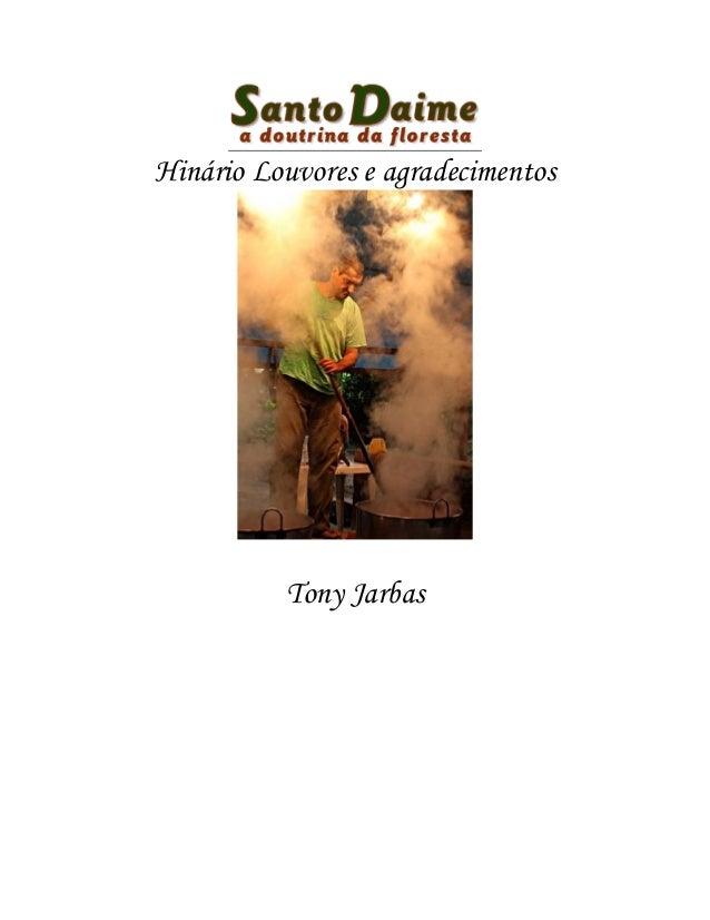 Hinário Louvores e agradecimentos Tony Jarbas