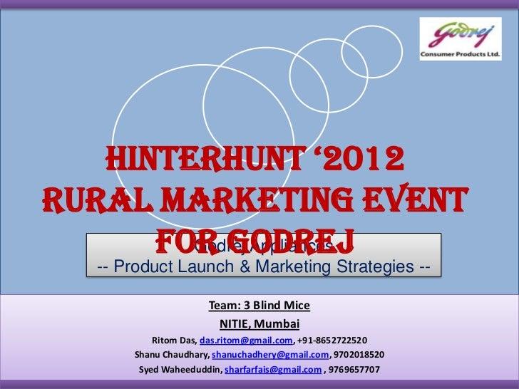 Hinterhunt 3 - Godrej Corporate Casestudy - PPI Winning