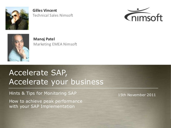 Hints and Tips for Monitoring SAP
