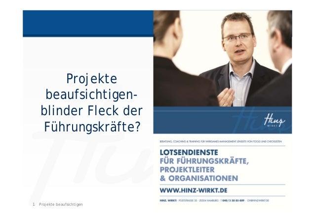 1 HINZ-WIRKT.DEProjekte beaufsichtigen Projekte beaufsichtigen- blinder Fleck der Führungskräfte?