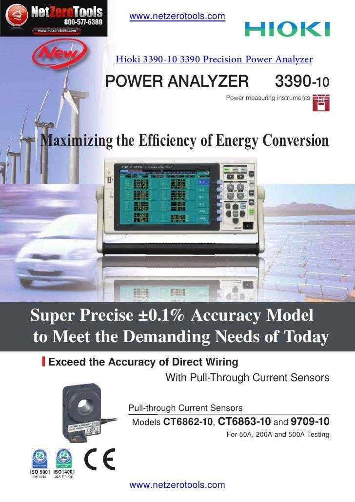 www.netzerotools.com              Hioki 3390-10 3390 Precision Power Analyzer            POWER ANALYZER                   ...