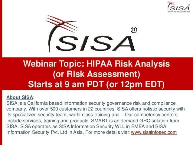 Hipaa risk analysis-webinar