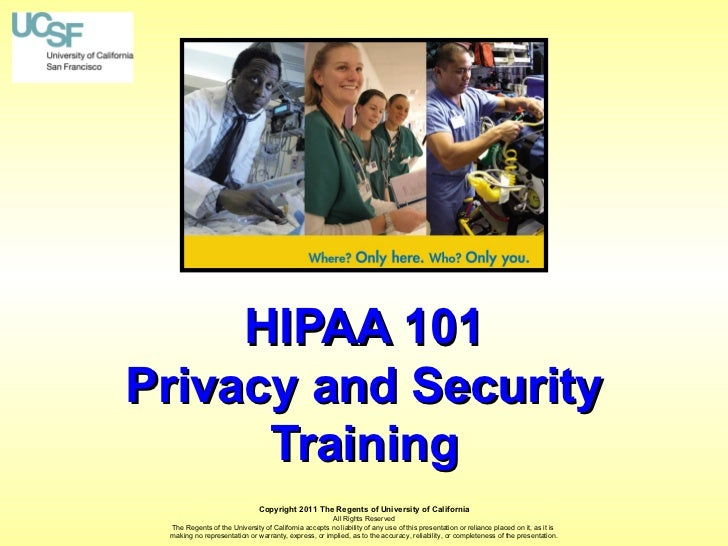 Hipaa101 training