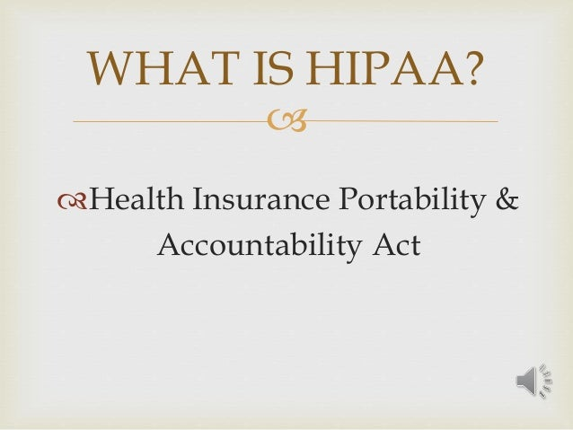 hipaa and information technology The information contained under the tenncare website regarding privacy regulations such as the health insurance portability and accountability act of 1996, known as hipaa, is intended for.