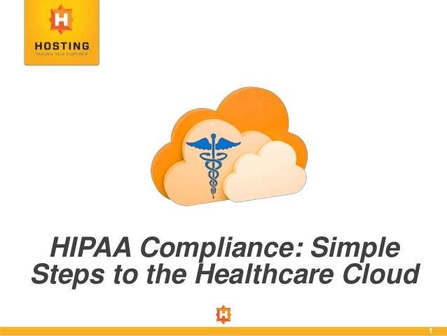 hipaa compliance simple steps to the healthcare cloud