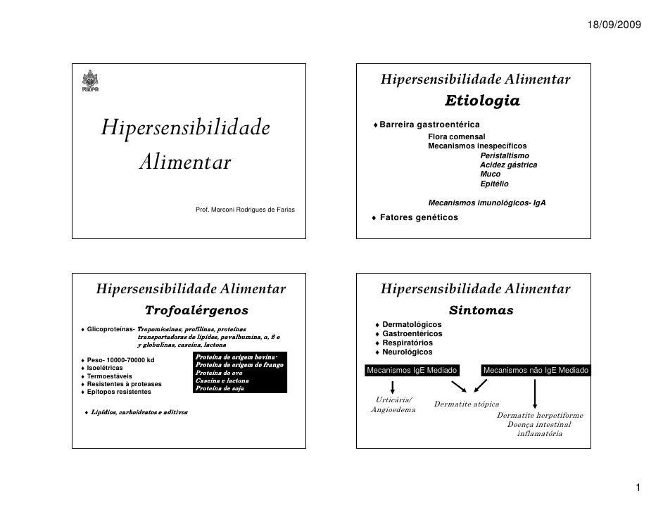 18/09/2009                                                                              Hipersensibilidade Alimentar      ...