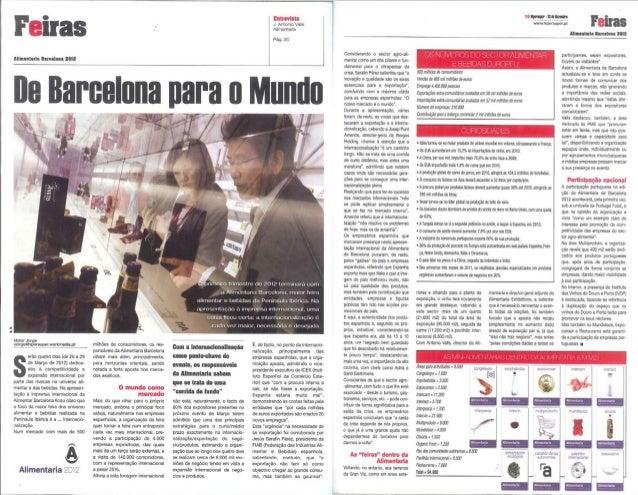 De Barcelona para o Mundo. Hiper Super (Portugal), diciembre 2011
