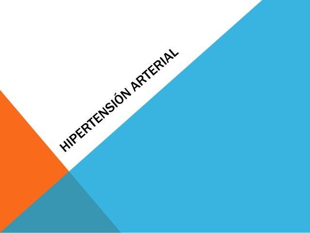 DEFINICIÓNLa HTA se define como la elevación mantenida de la presión arterial porencima de los límites normales. Es decir ...
