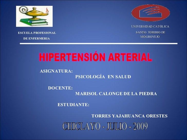 UNIVERSIDAD CATÓLICA  ESCUELA PROFESIONAL                                 SANTO TORIBIO DE                                ...