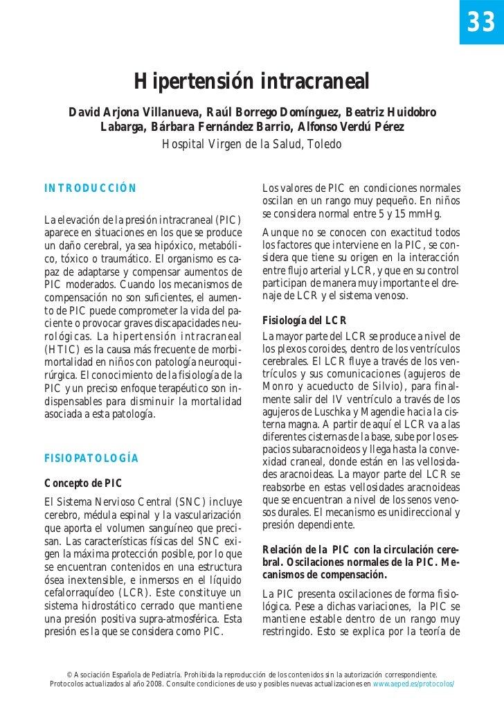 33                           Hipertensión intracraneal      David Arjona Villanueva, Raúl Borrego Domínguez, Beatriz Huido...