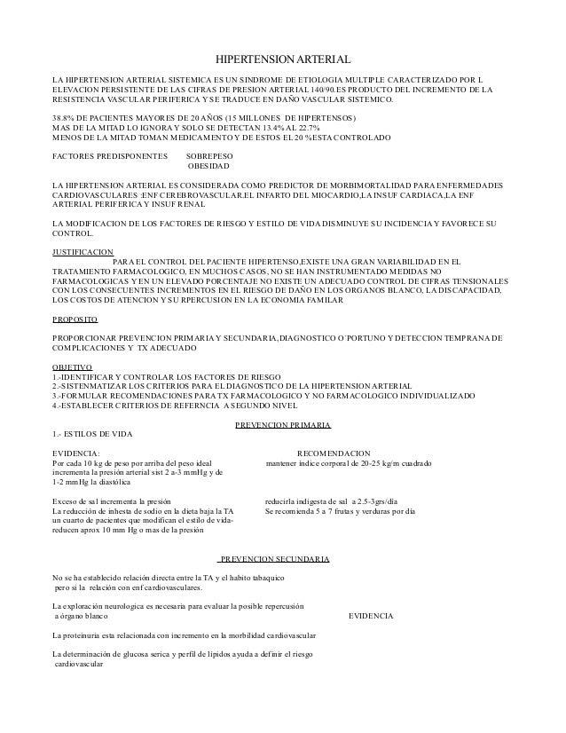 HIPERTENSION ARTERIALLA HIPERTENSION ARTERIAL SISTEMICA ES UN SINDROME DE ETIOLOGIA MULTIPLE CARACTERIZADO POR LELEVACION ...