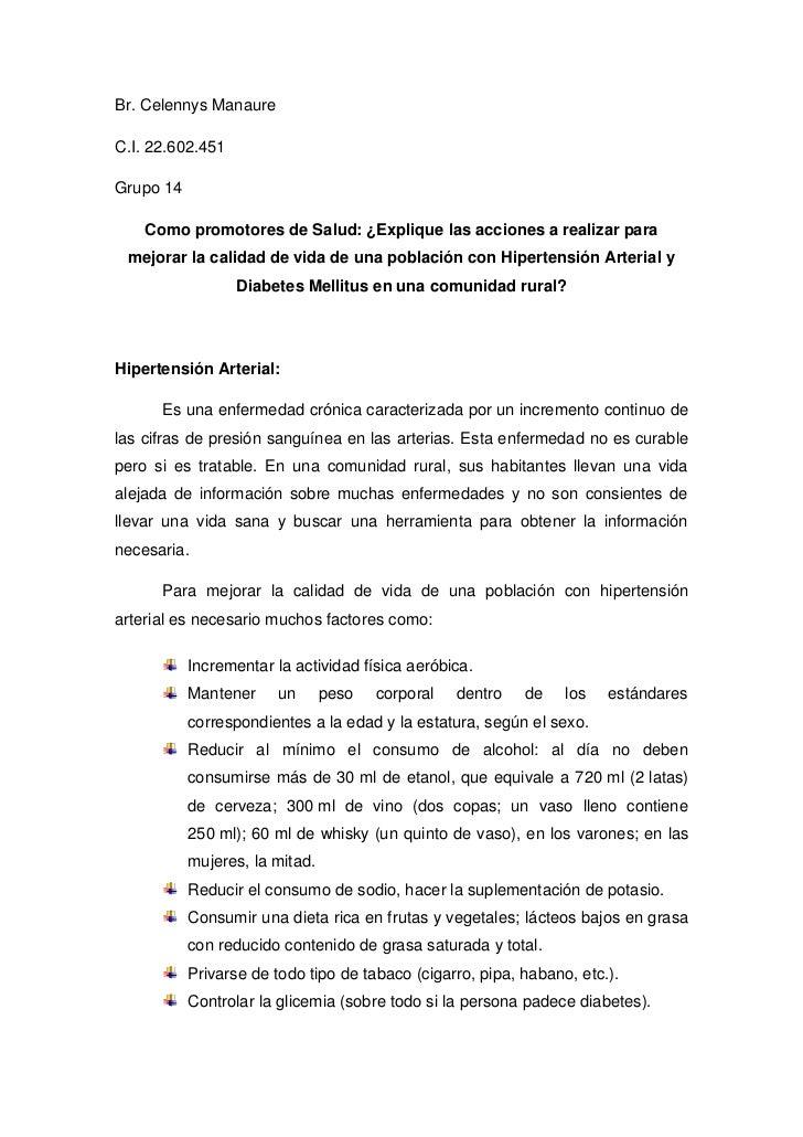 Br. Celennys ManaureC.I. 22.602.451Grupo 14    Como promotores de Salud: ¿Explique las acciones a realizar para mejorar la...