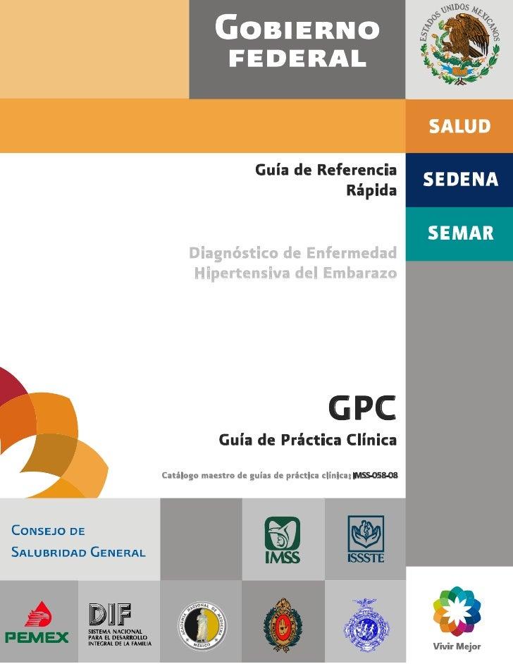 Guía de Referencia                                 Rápida      Diagnóstico de Enfermedad      Hipertensiva del Embarazo   ...