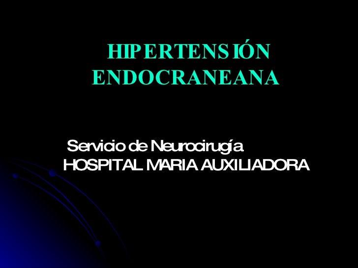 Hipertension Endocraneana Hma