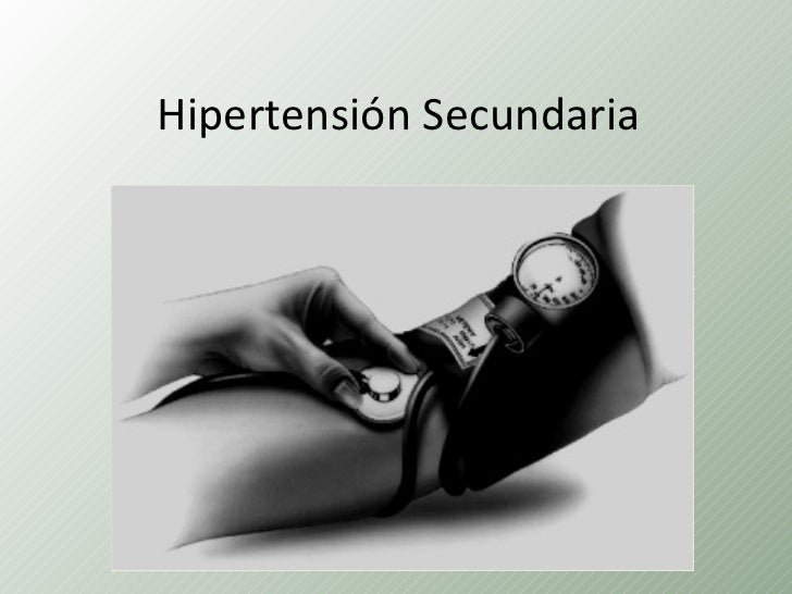 Hipertension secundaria