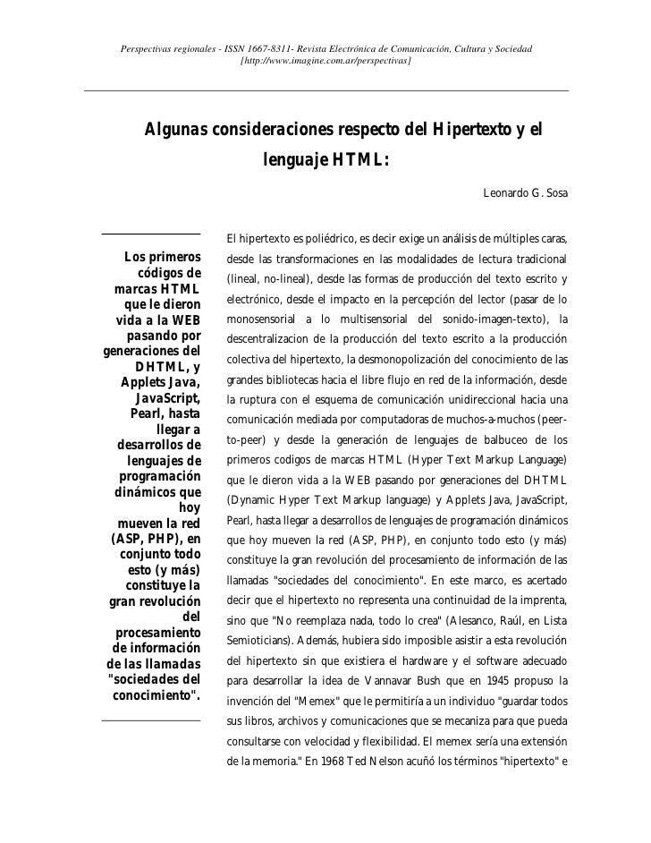 Perspectivas regionales - ISSN 1667-8311- Revista Electrónica de Comunicación, Cultura y Sociedad                         ...