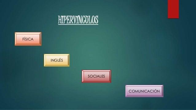 HIPERVÍNCULOS FÍSICA INGLÉS SOCIALES COMUNICACIÓN