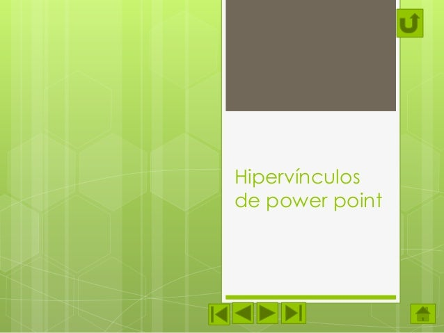 Hipervínculos de power point