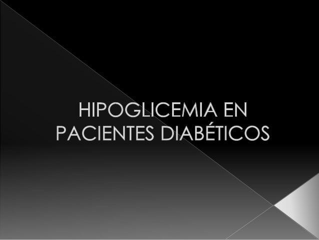 Hipoglicemia en diabéticos