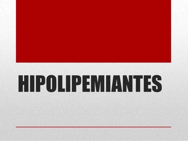 Hipolipemiantes