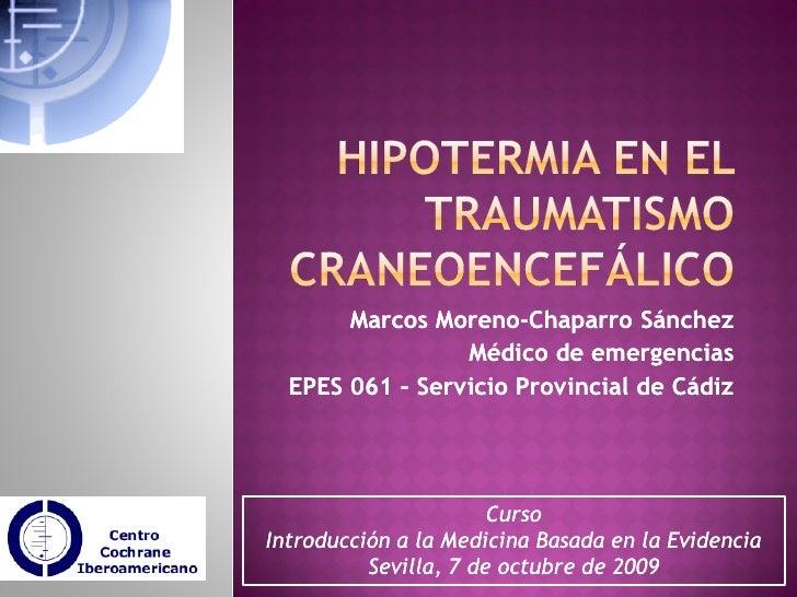 Hipotermia en el traumatismo craneoencefálico