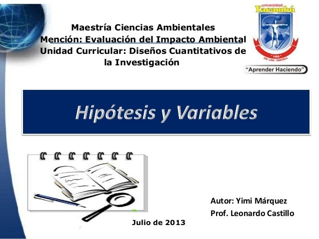 Hipotesis Variables