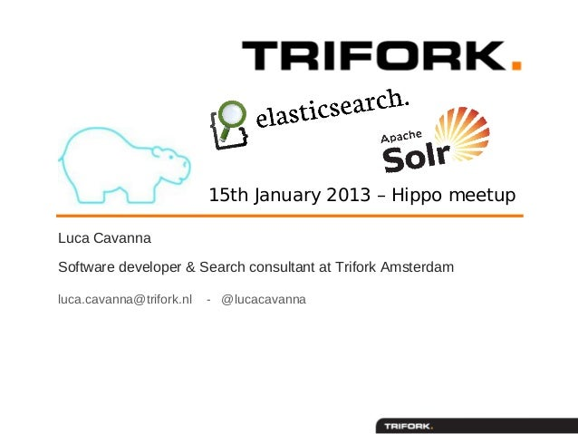 15th January 2013 – Hippo meetupLuca CavannaSoftware developer & Search consultant at Trifork Amsterdamluca.cavanna@trifor...