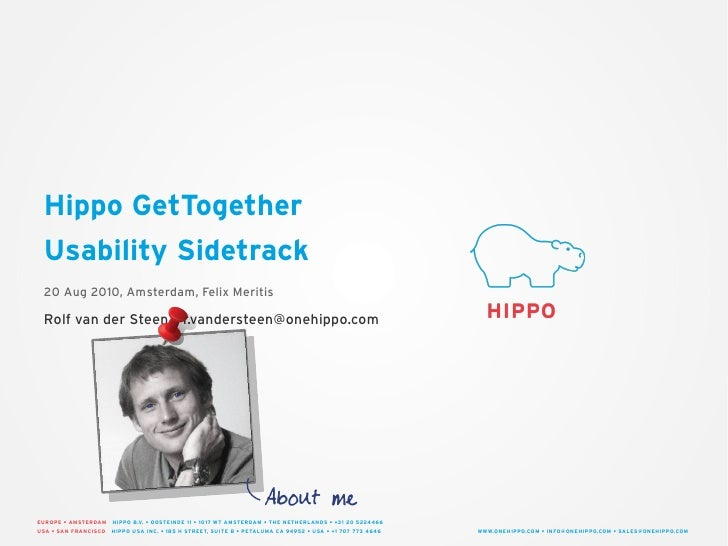 Hippo GetTogether Usability Sidetrack
